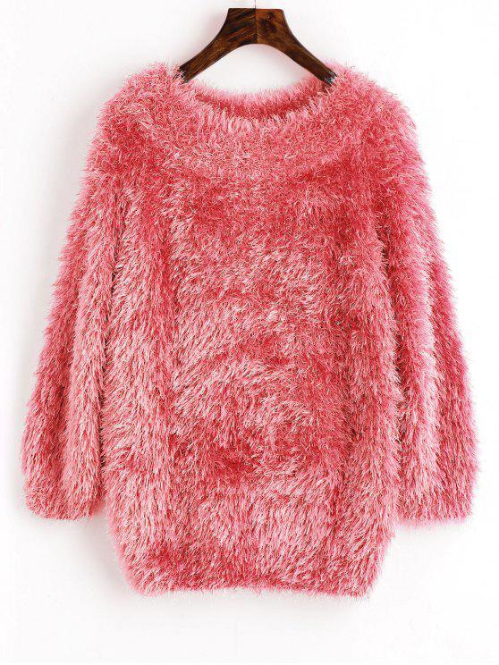 سويت راجلان الأكمام بلوفر - الخوخ الوردي حجم واحد