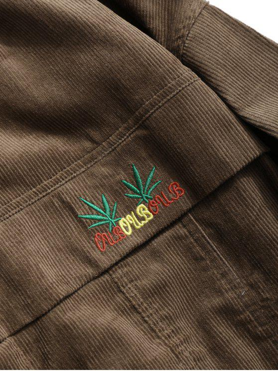 Button Coffee Jacket Corduroy Up L pqaPBOwp