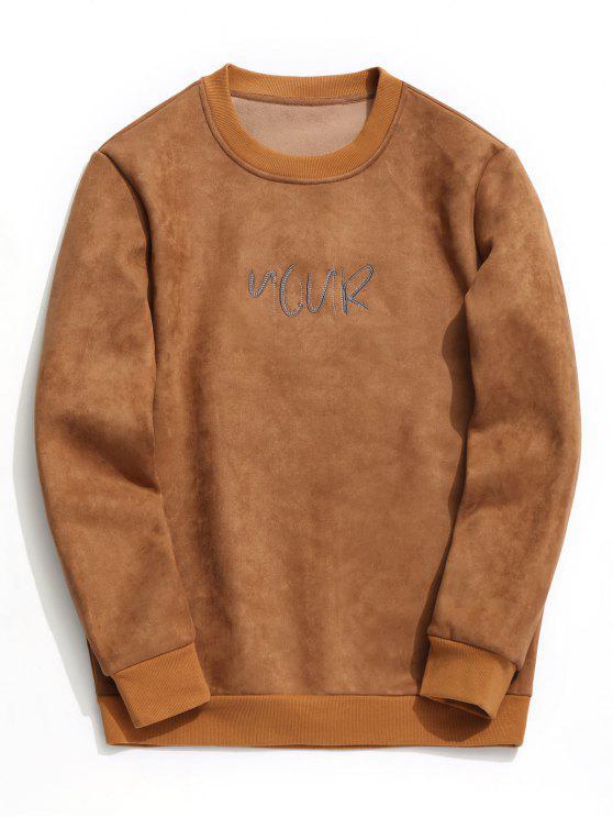 26 Off 2020 Suede Embroidered Crew Neck Sweatshirt In