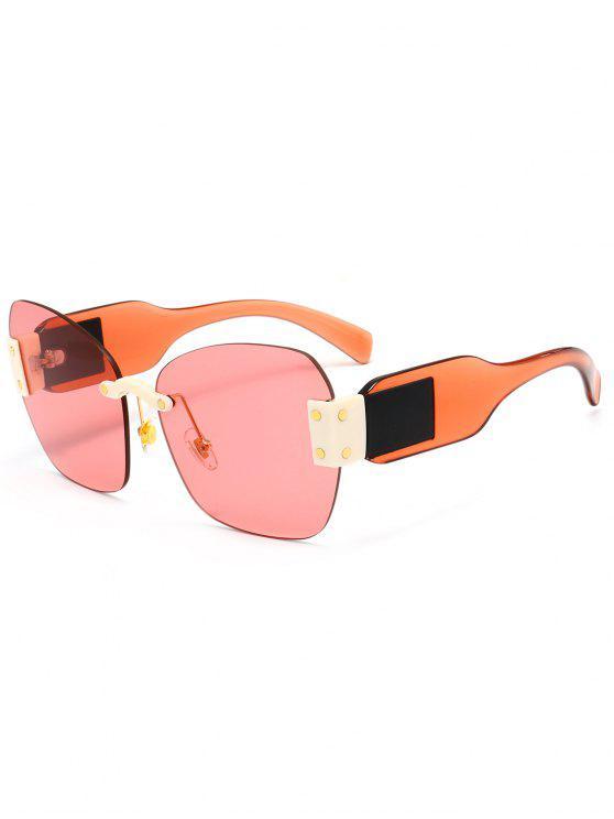 Schmetterling Form verschönert randlose übergroße Sonnenbrille - Helles Rosa