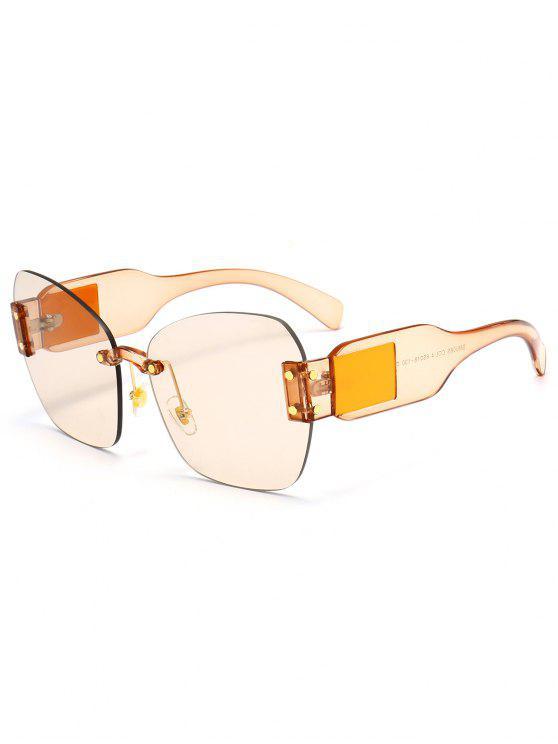 Schmetterling Form verschönert randlose übergroße Sonnenbrille - Hellrot