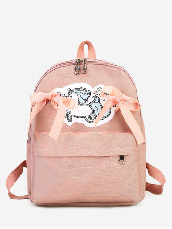 outfits Unicorn Ribbon Bow Backpack - PINK