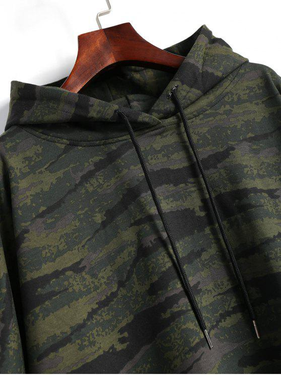 High Camouflage Hooded Camo Top L Low RwZId