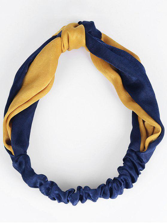 Bande de cheveux élastique à deux tons - Bleu et Orange