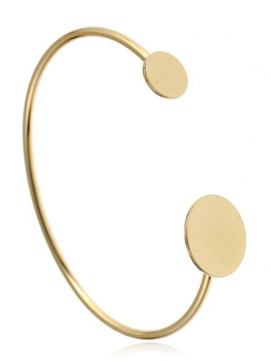 Einfache Metallrunde Manschette Armband - Golden