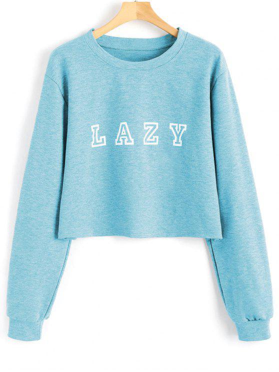 outfit Drop Shoulder Letter Graphic Pattern Sweatshirt - CLOUDY XL