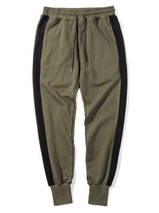 Seitlich gestreifte Kordelzug Sweatpants Herrenbekleidung - Armeegrün 2XL