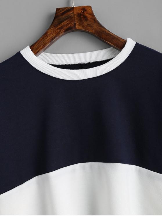 Court Sweat MarineBlanc shirt ContrastantBleu L 0mNnwv8