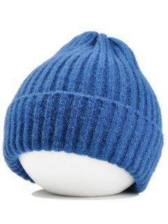 Flanging Crochet Knitted Lightweight Beanie - Lake Blue