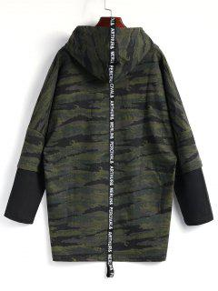 Hooded High Low Camo Top - Camouflage L