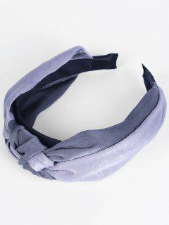 Two Tone Knot Vintage Hairband - Dark Gray + Light Gray