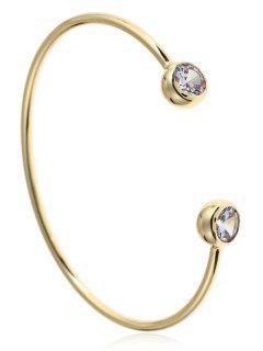 Rhinestone Cuff Bracelet - Golden