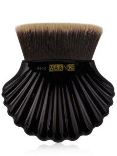 Shell Shape Fiber Hair Plating Foundation Brush - Black