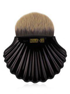 Brosse De Maquillage De Base De Fibre De Forme De Coquille De Fibre - Noir