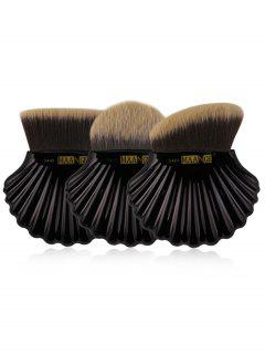 3Pcs Professional Foundation Makeup Brush Set - Black