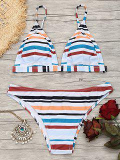 Striped Cami Bathing Suit - Stripe M