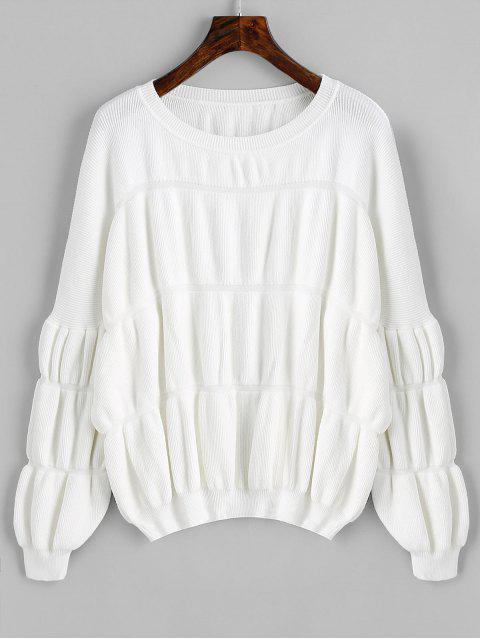 Pullover Lantern Ärmel Übergroße Pullover - Weiß Eine Größe Mobile