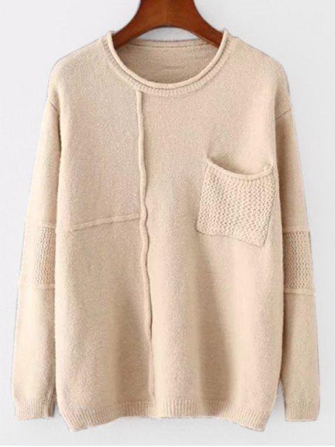 Suéter de bolsillo con textura - Albaricoque Única Talla Mobile