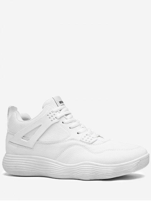Correr zapatos deportivos de cuero artificial - Blanco 42 Mobile