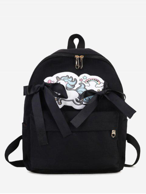 hot Unicorn Ribbon Bow Backpack -   Mobile