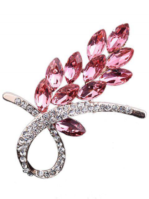 Faux Kristall Strass Blume Brosche - Rosa  Mobile