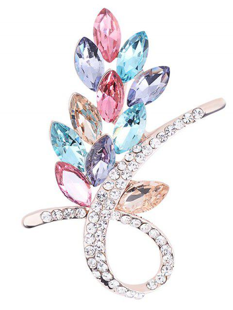 Broche fleur strass en strass - Multicolore  Mobile