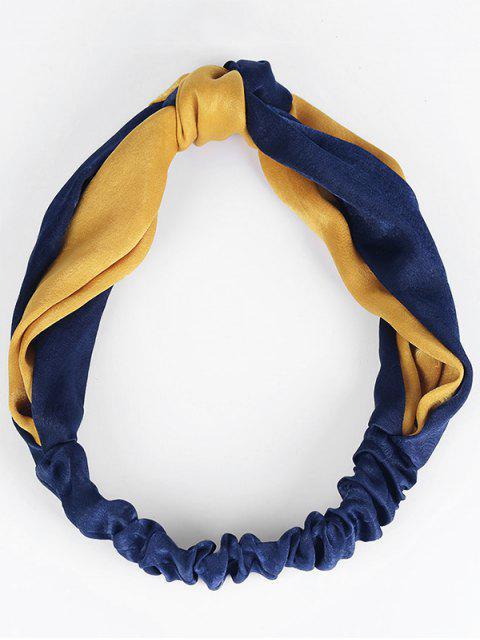 Bande de cheveux élastique à deux tons - Bleu et Orange  Mobile