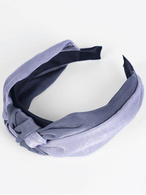 outfit Two Tone Knot Vintage Hairband - DARK GRAY + LIGHT GRAY  Mobile