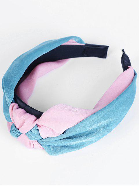 shop Two Tone Knot Vintage Hairband - BLUE AND RED  Mobile