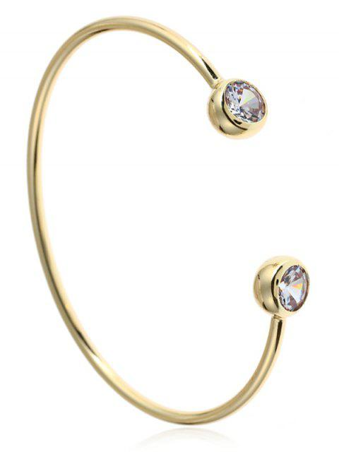 lady Rhinestone Cuff Bracelet - GOLDEN  Mobile