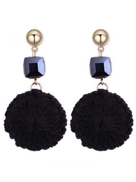 trendy Metal Ball Round Crochet Flower Earrings -   Mobile