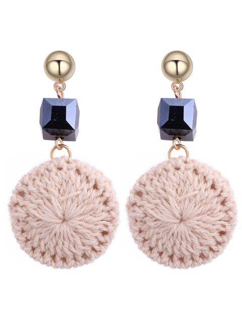 sale Metal Ball Round Crochet Flower Earrings -   Mobile