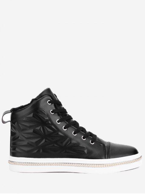 Geometrische Curb-Kette geprägte Skate Schuhe - Schwarz 44 Mobile