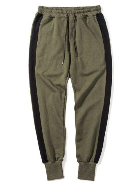 ladies Side Striped Drawstring Sweatpants Men Clothes - ARMY GREEN XL Mobile