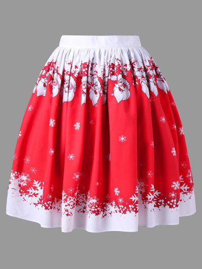Image of Plus Size Christmas Santa Claus Swing Skirt
