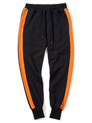 Side Striped Drawstring Sweatpants