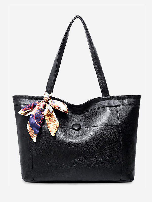 scarf pu leather shoulder bag