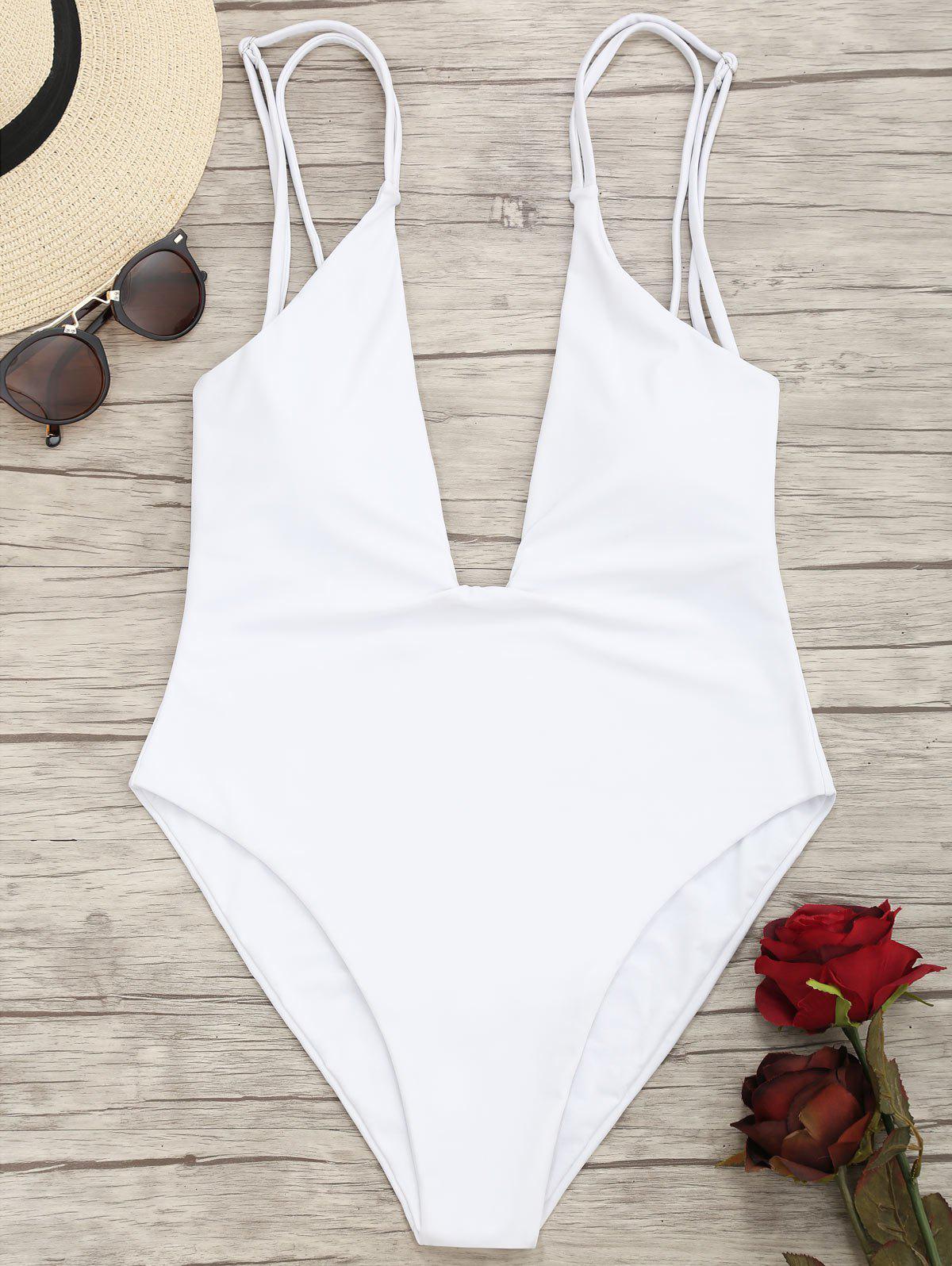 High Cut Plunge Cami Swimwear 236879002