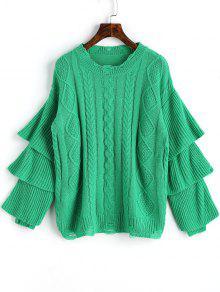 Jersey De Punto De Manga Jersey De Punto Jersey - Verde