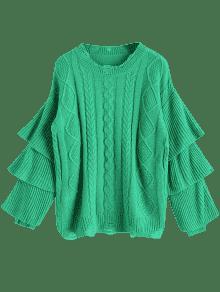 Manga Verde Jersey Punto Jersey De De De Jersey Punto qZaxtnzwS