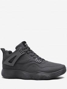 تشغيل عارضة الأحذية الجلدية أحذية رياضية - رمادي 40