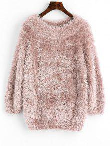 Jersey Jersey Con Manga Raglán Pullover - Rosa Beige