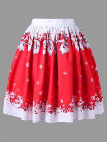 تنورة الحجم الكبير - أحمر Xl
