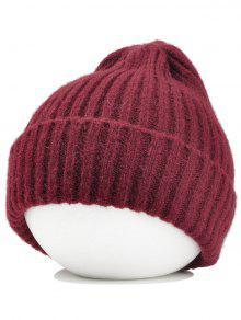 قبعة شتوية من الكروشيه - نبيذ أحمر