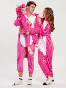 unicorn animal matching family christmas onesie pajamas