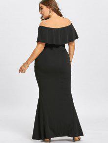 Black Mermaid Dress Plus Size