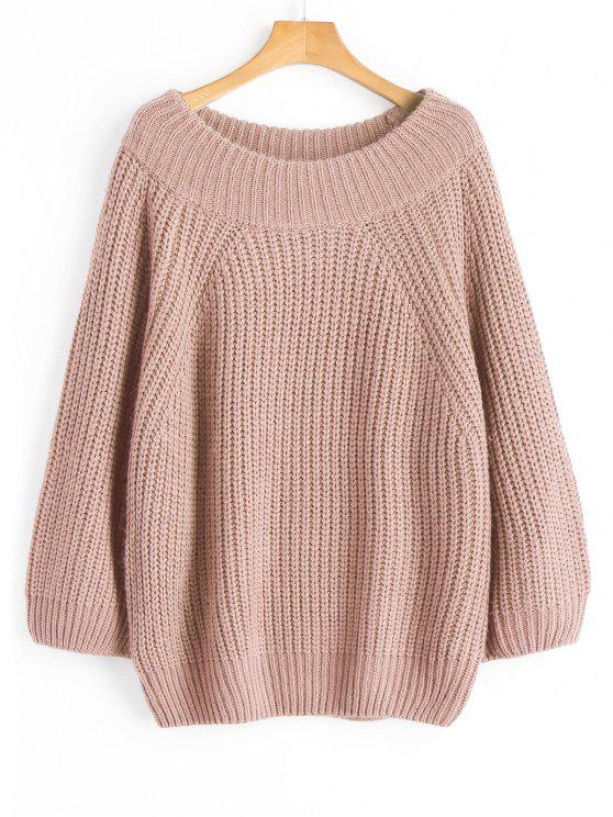 175560c69dbd 34% OFF  2019 Chunky Off Shoulder Pullover Sweater In NUDE PINK