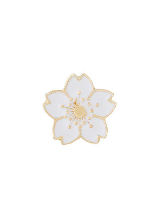 affordable Tiny Cute Flower Brooch - WHITE