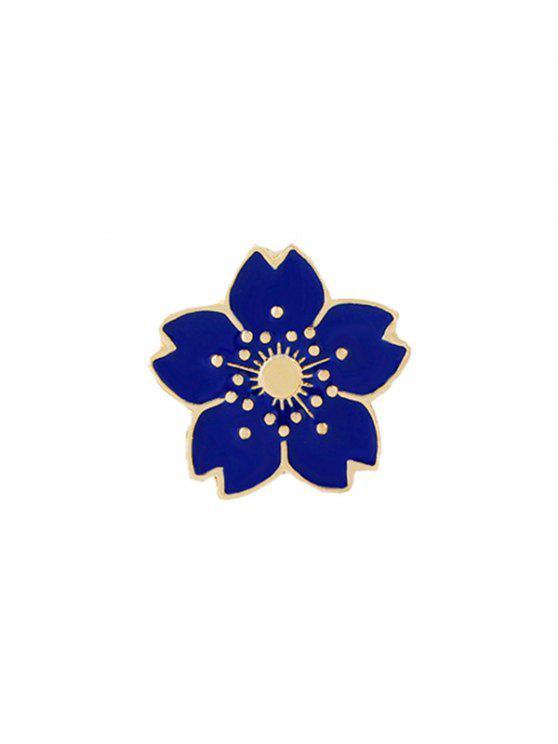 Pequeño broche lindo de la flor - Azul