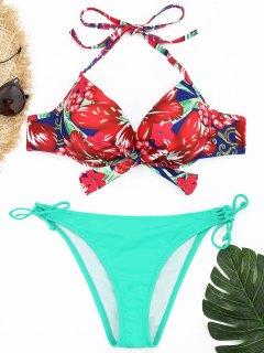 Conjunto De Bikini Con Aros Florales - Lago Verde S